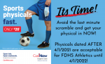 Physicals! Get ahead of YOUR GAME!