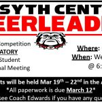 Cheerleading Tryout Meeting Feb 28