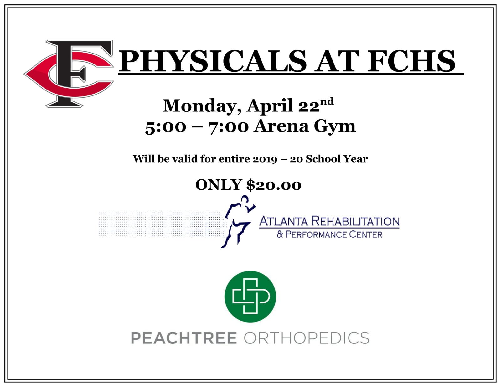 Physicals @FCHS