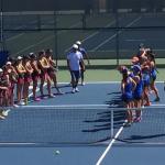 Varsity tennis defeats San Diego High 11-7