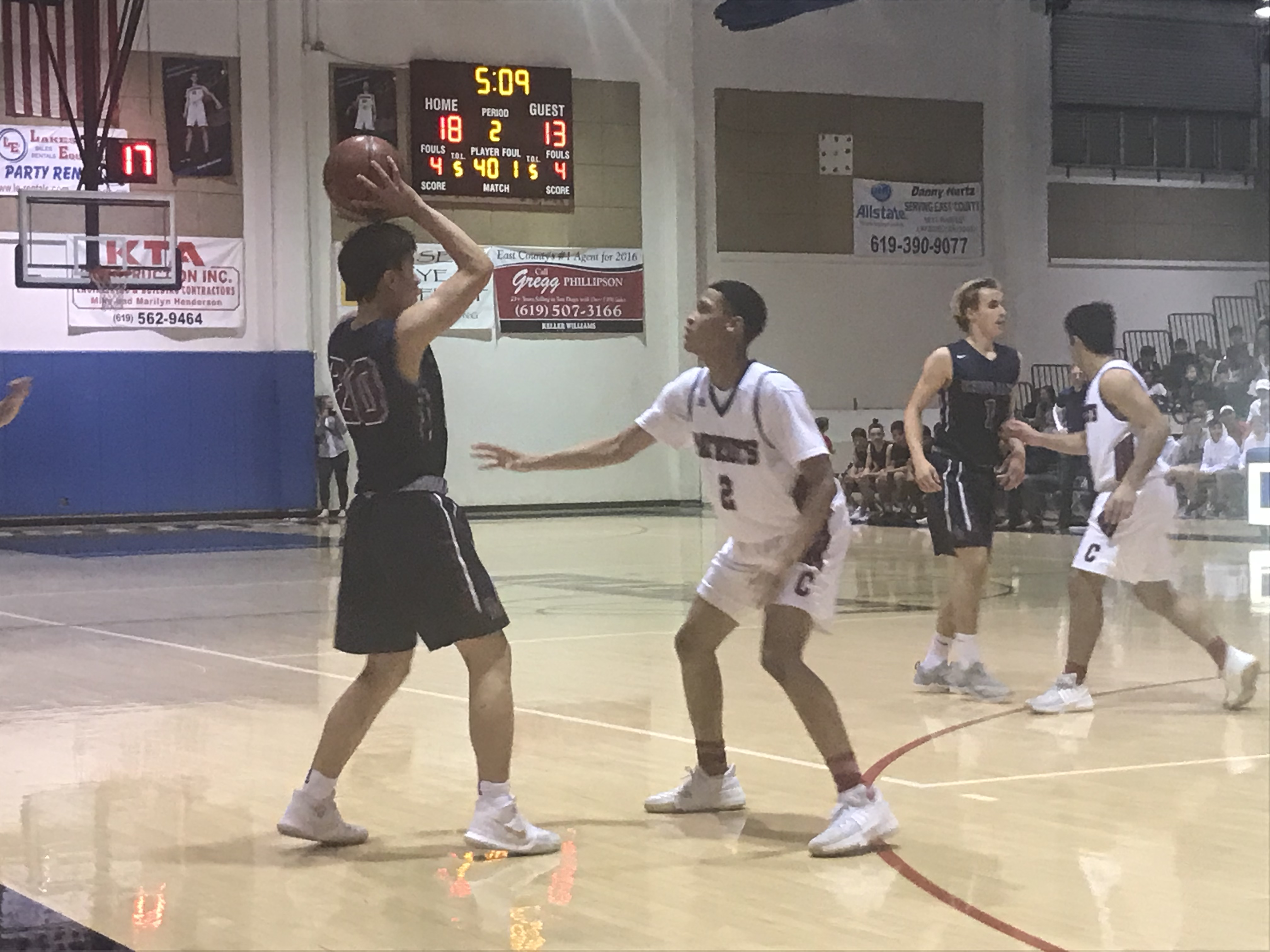 Varsity Boys Basketball Fall To Christian In Great Game