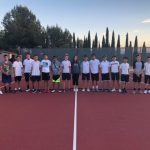 Boys JV Tennis Beat Cathedral On The Road