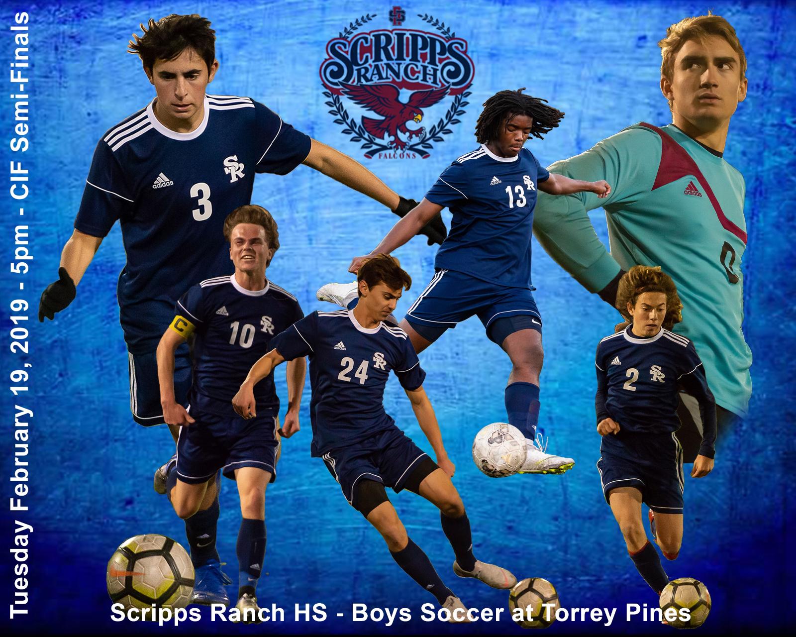 Boys Soccer @ Torrey Pines – CIFSDS Open Semifinals Tuesday 2/19