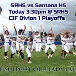 Softball vs. Santana – CIF D1 Playoffs First Round Today @ 3:30