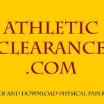 Athletic Clearance For Fall Sports As Of 7-22-2019 – Check Clearance List To See If You Are Cleared