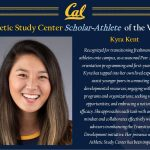 SRHS Alumnus Kyra Kent Recieves Scholar-Athlete Honors @ Cal Berkeley