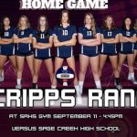 Varsity Girls Volleyball vs. Sage Creek Tomorrow 3:30/4:45