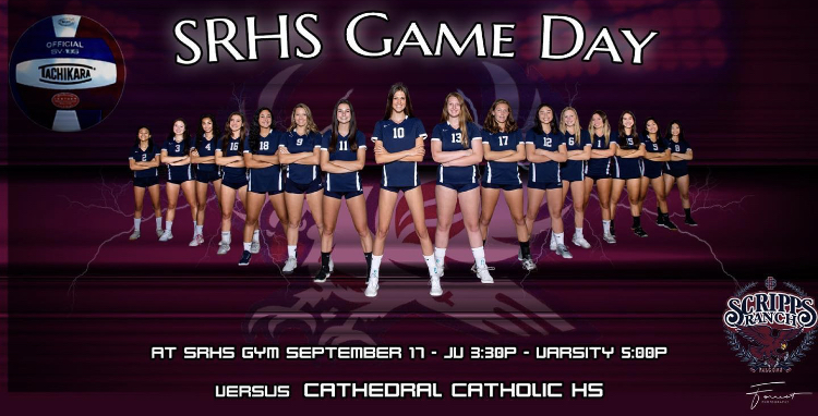 Girls Volleyball vs. Cathedral Tuesday 3:30/5:00