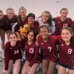 Freshman Girls Volleyball Celebrate Coach Moyer's Birthday