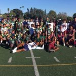 Falcon Football Players Supporting Challenger  Pop Warner