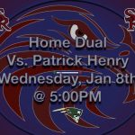 Wrestling vs. Patrick Henry Tomorrow