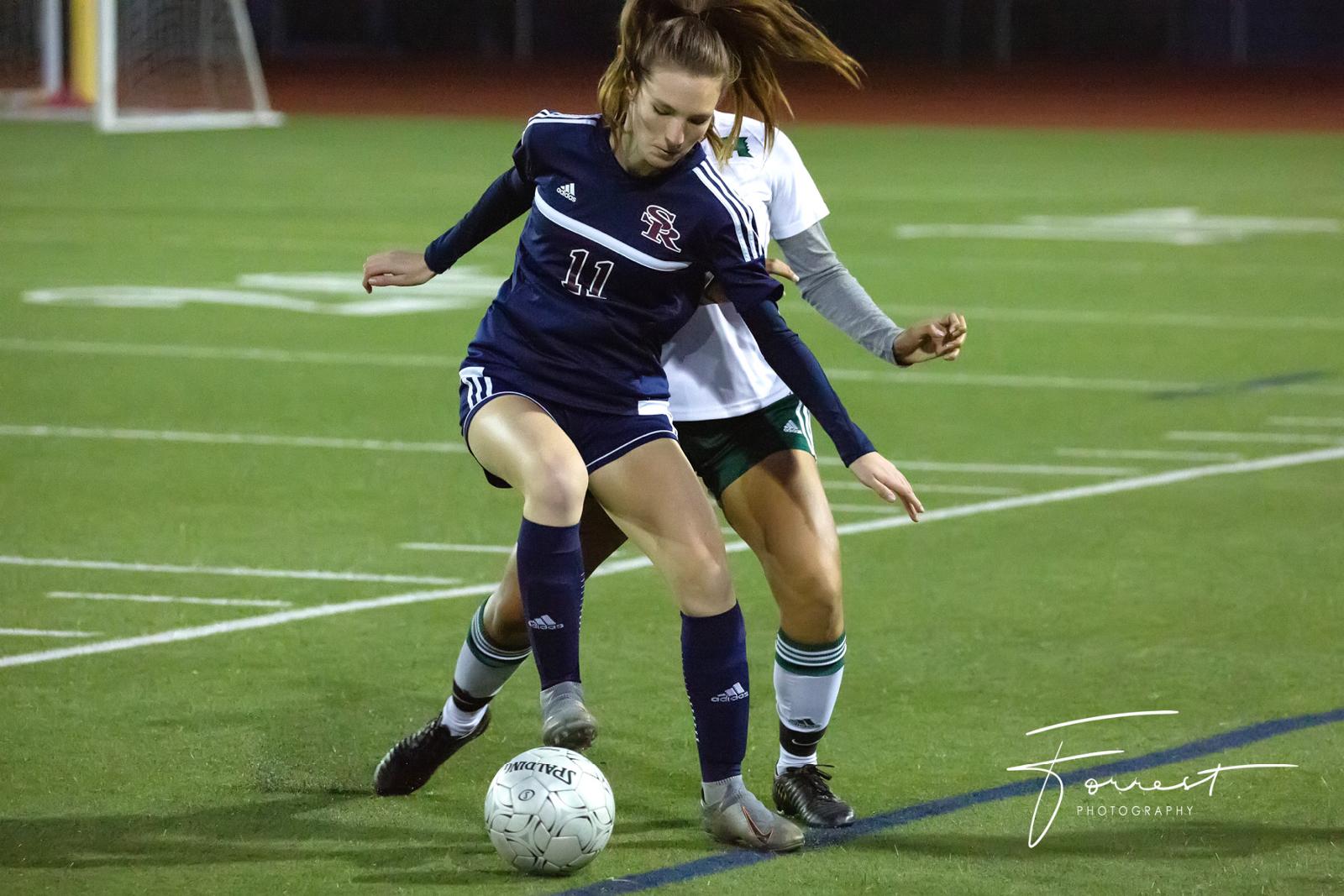 Varsity Girls Soccer Ties Hilltop
