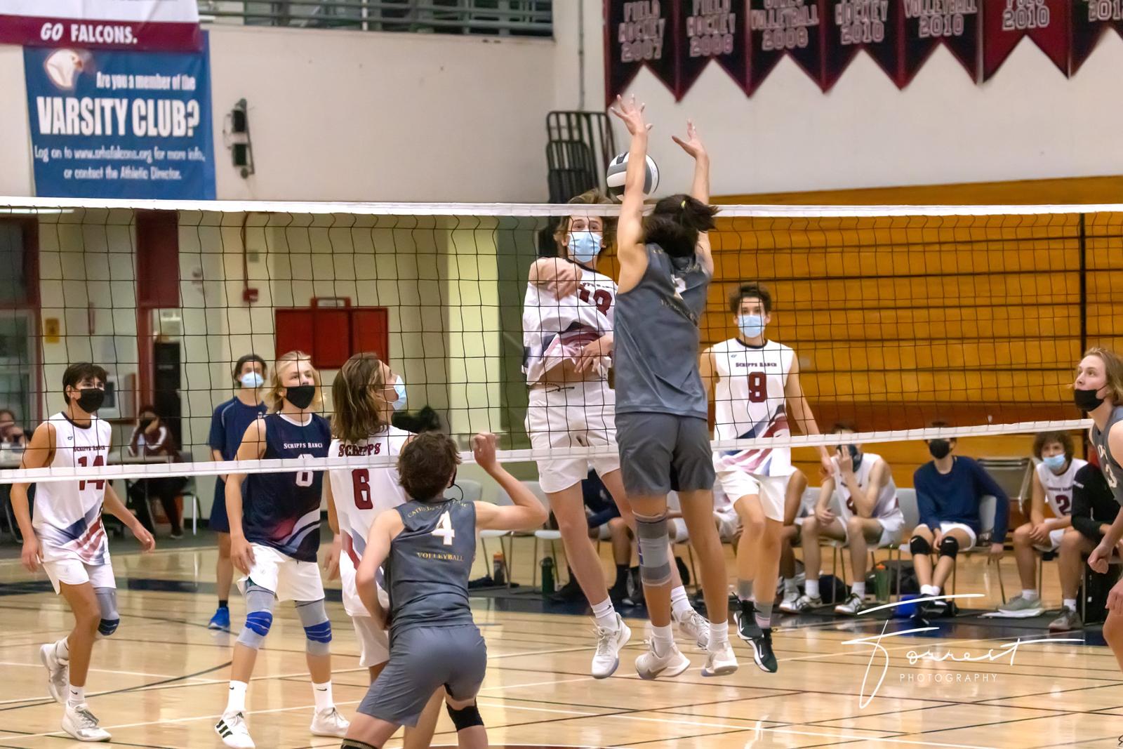 Varsity Boys Volleyball Falls To Cathedral Catholic