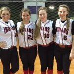 Varsity Lady Indian Softball Bomb Squad