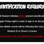 New Athletic Gate Policy for Student Athletes