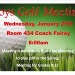 Boys Golf Meeting