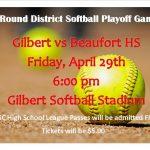 Softball 1st Round District Playoffs