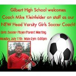 Welcome Mike Kleinfelder Head Varsity Girls Soccer
