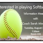 Softball Meeting for GHS Students