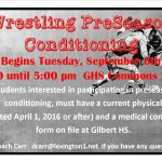 Wrestling PreSeason Conditioning