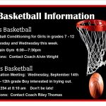 Basketball Information Girls and Boys