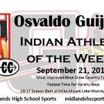 Osvaldo Guijosa Male Indian Athlete of the Week