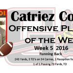 Catriez Cook Midlands Offensive Player of the Week   Week5