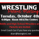 Wrestling Parent Meeting