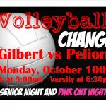 Volleyball vs Pelion CHANGE