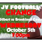 JV Football vs Brookland Cayce CHANGE
