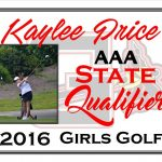 Kaylee Price AAA State Qualifier Girls Golf
