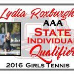 Lydia Roxburgh AAA Individual Girls Singles State Qualifier