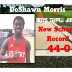 DeShawn Morris New School Record Boys Track Triple Jump
