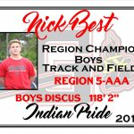 Nick Best Region Track Champion Boys Discus