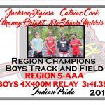Boys 4x100M Relay Region Track Champions