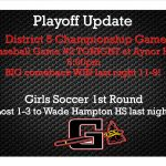 Playoff Update Tuesday May 2nd