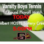 Boys Tennis 1st Round Playoff