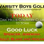 Boys Golf Region 5 Championship
