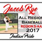 Jacob Rye All Region Baseball