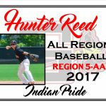 Hunter Reed All Region Baseball