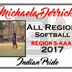 Michaela Derrick All Region Softball