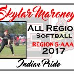 Skylar Maroney All Region Softball