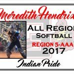 Meredith Hendrix All Region Softball