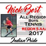 Nick Best All Region Boys Tennis