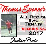 Thomas Spencer All Region Boys Tennis