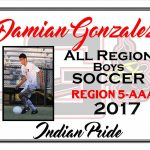Damian Gonzalez All Region Boys Soccer