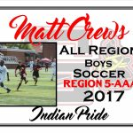 Matt Crews All Region Boys Soccer