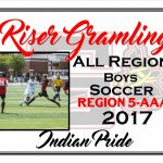 Riser Gramling All Region Boys Soccer