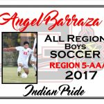 Angel Barraza All Region Boys Soccer