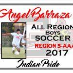 Angel Barraza All Region Boys Soccer